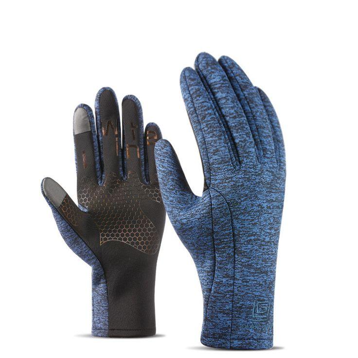 Mens Women Sports Waterproof Gloves Outdoor Riding Touch Screen Warm Velvet Ski Climbing Gloves