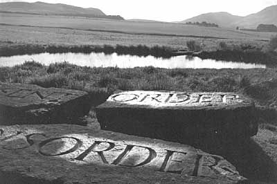 By Ian Hamilton Finlay - Order at Little Sparta: Front Gardens, Finlay Work, Inglebi Galleries, Sculpture Gardens, Famous Gardens, Hamilton Finlay I, Art Galleries, Fruitmarket Galleries, Ian Hamilton Findlay