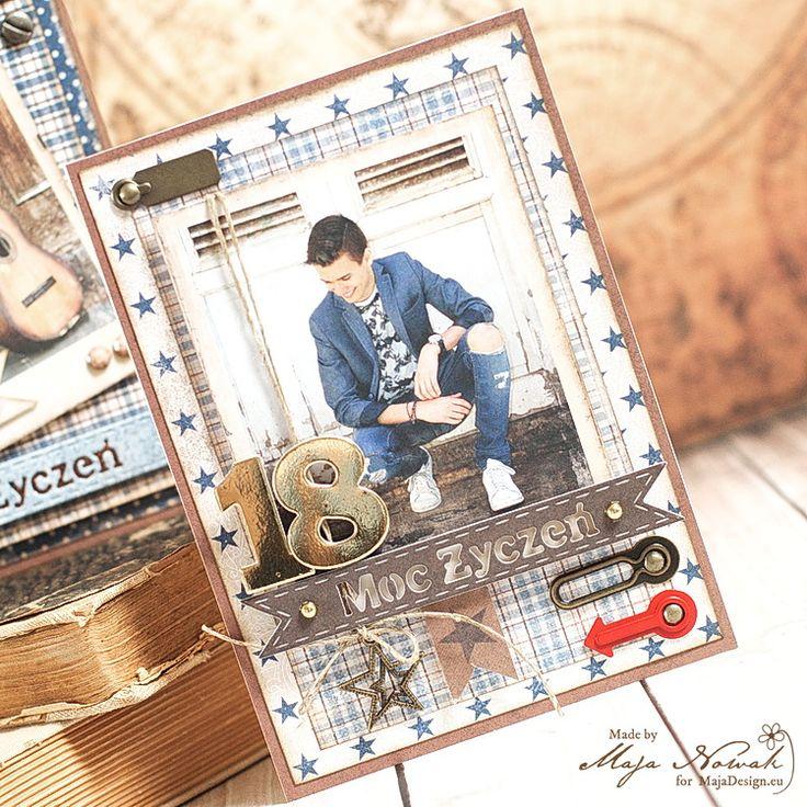 CraftHobby Oliwiaen: 18th Birthday Masculine Card. Kartka męska na osiemnastkę