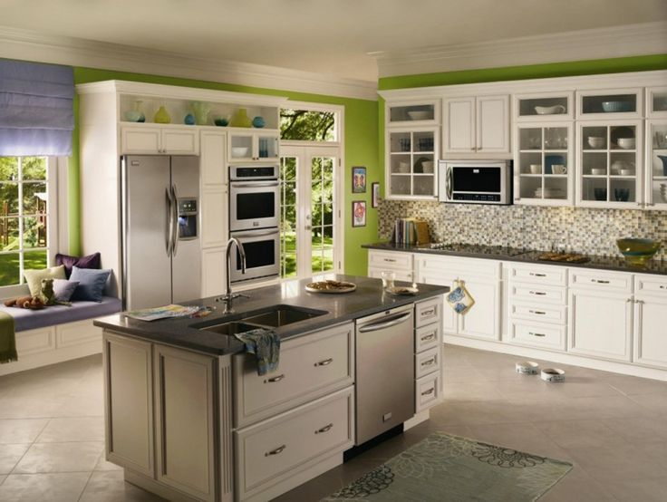 35 Fresh White Kitchen Cabinets Ideas To Brighten Your: 17 Best Ideas About Cabinet Depth Refrigerator On