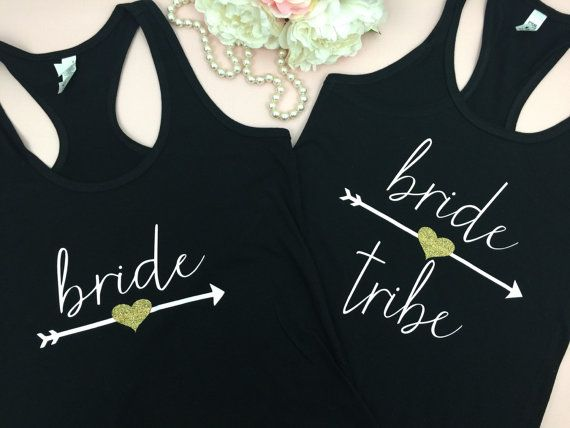 Bride Tribe, Glitter Bride Tribe Tank, Bridesmaid Tank Top, Bridesmaid Tanks, Bridal Party Shirts   These tanks are super fun to wear for your