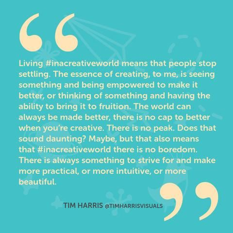 Living in a creative world - inspirational quotation