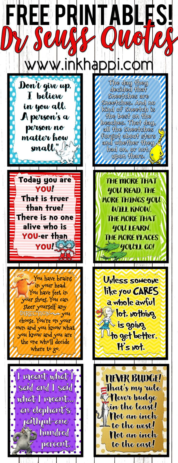 Celebrate dr seuss birthday or anyway with these free dr seuss quote - Lets Celebrate A Birthday With These Dr Seuss Printables