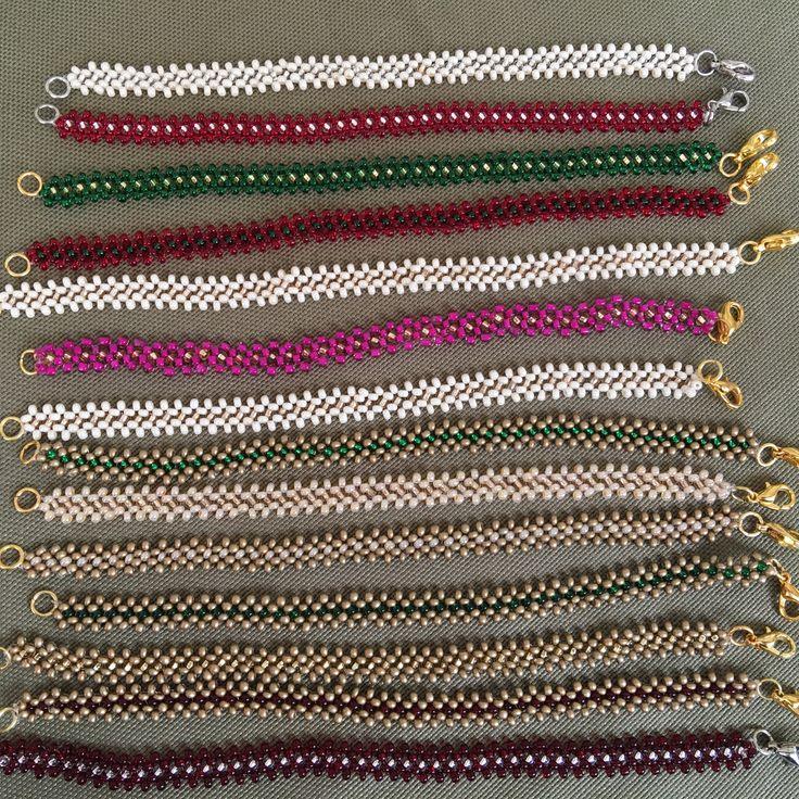 Renk renk bileklikler www.serguzestshop.com da #ormebileklik #bileklik #boncuk #elyapimi #handmade