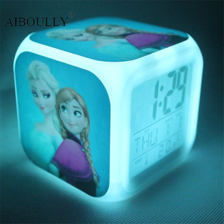 2017 Hot sale creative toys Seven color light change cartoon Elsa Anna Olaf toys children's gifts