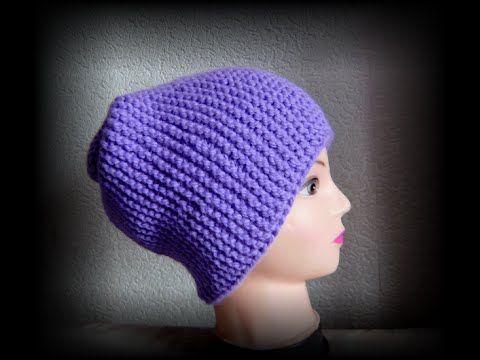 шапка чулок спицами поперечное вязание Вяжем с Людмилой Тен