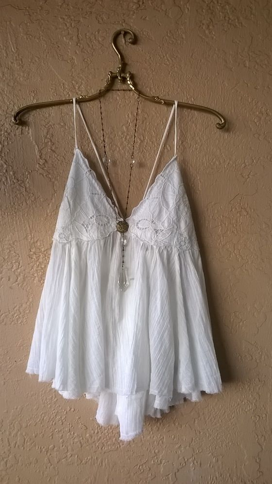 Image of Free People applique bra style camisole with lace GALAXY