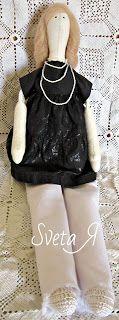 ΥΠΕΡΟΧΕΣ ΔΗΜΙΟΥΡΓΙΕΣ: Кукла в стиле тильда в черно-белом наряде.