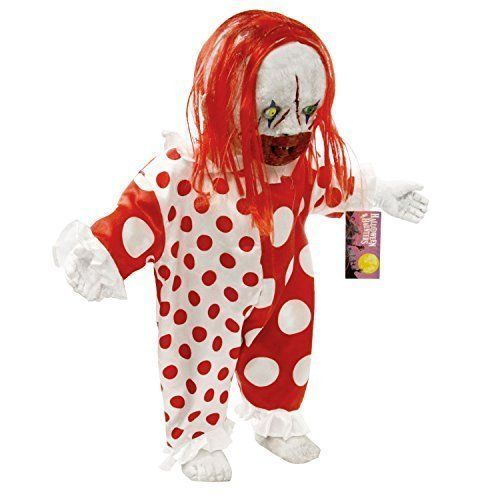 Halloween Prop Decoration Standing 2 foot Scary Circus Clown Demon Baby Doll NEW #HalloweenPropDecoration