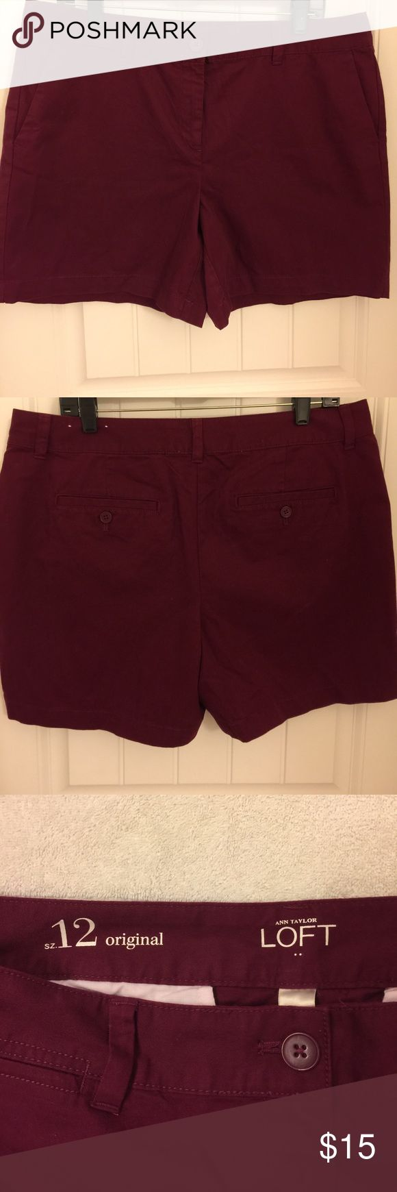 Ann Taylor Loft Shorts Size 12 Anne Taylor Loft Shorts. Size 12. Pre-owned in great condition with no known tears snags or stains. Washed per tag. Please feel free to ask questions. Thanks! Ann Taylor Shorts