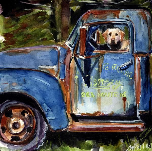 This is art by Molly Poole. She specializes in dog art and I just find her inspiring. Her work can be found on Fineartamerica.com
