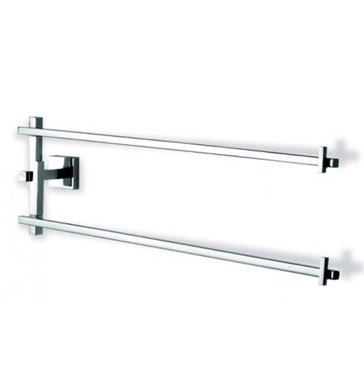 Tattva Spa Bathware Hash Double Towel Rod Of 26.35 X 7 X 4.5 inches In Stainless Steel (TSP0610)