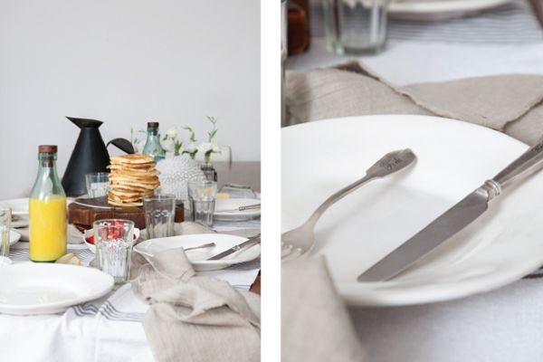 Beautiful table setting with tableware by Leuk, Collingwood