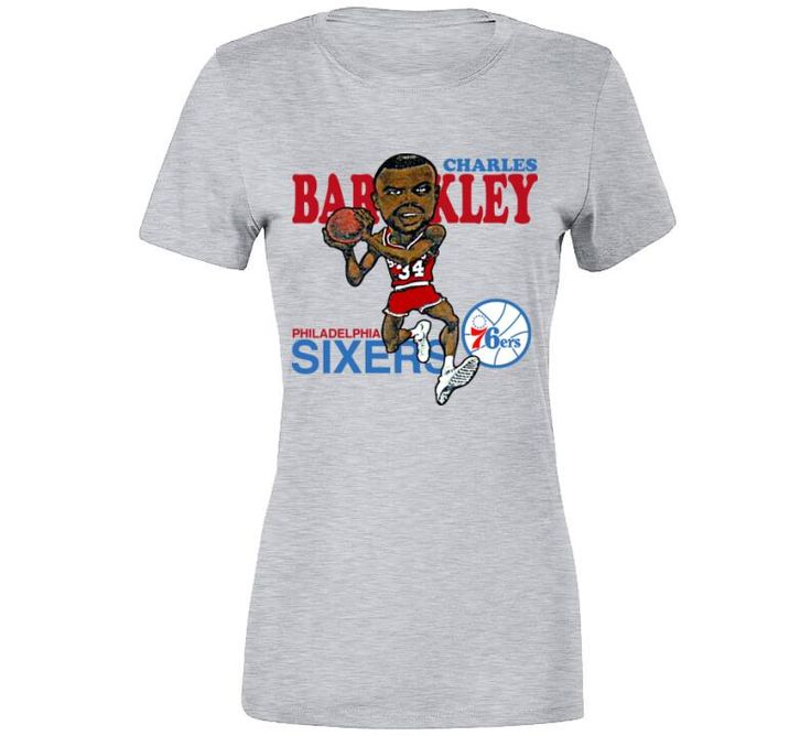 Charles Barkley Chuck Philadelphia Basketball Retro Caricature T Shirt is available on a Sport Grey 100% Cotton Tshirt. The Charles Barkley Chuck Philadelphia Basketball Retro Caricature T Shirt is available in all sizes. Please select your desired shirt style and size from the drop down menus above. Item(s) custom made and shipped within 48 hours via USPS First Class Mail Each order will receive an online status tracker for real-time updates
