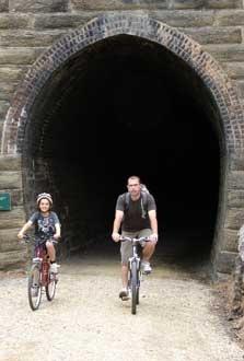 Poolburn Tunnel No.2 on Otago Central Rail Trail in New Zealand http://www.centralotagonz.com/otago-central-rail-trail