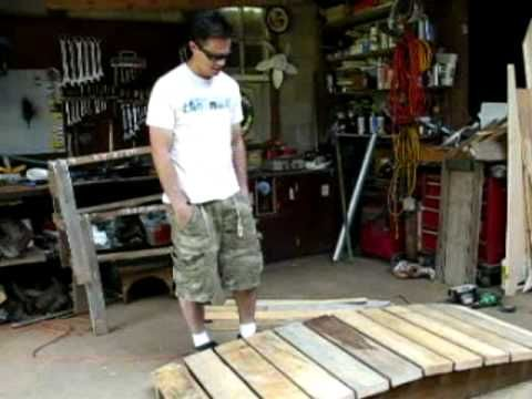Rick teaches how to build a bridge for your garden, creek, or dry creek bed.