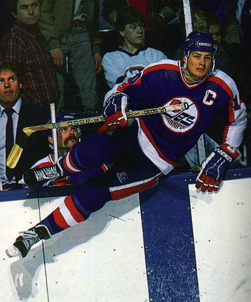 Former Winnipeg Jets Captain #10 Dale Hawerchuk