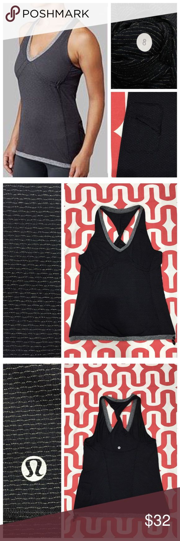 Lululemon Personal Best Singlet Black. Excellent Preloved condition. Light weight singlet. Layer over any bra. Silverescent technology. Circle mesh in high sweat areas. Cinchable drawcord hem. Flat back hip pocket. Twist detailing in back - see stock photo of wish blue tank. No trades. No PayPal. Price firm unless bundled. lululemon athletica Tops Tank Tops