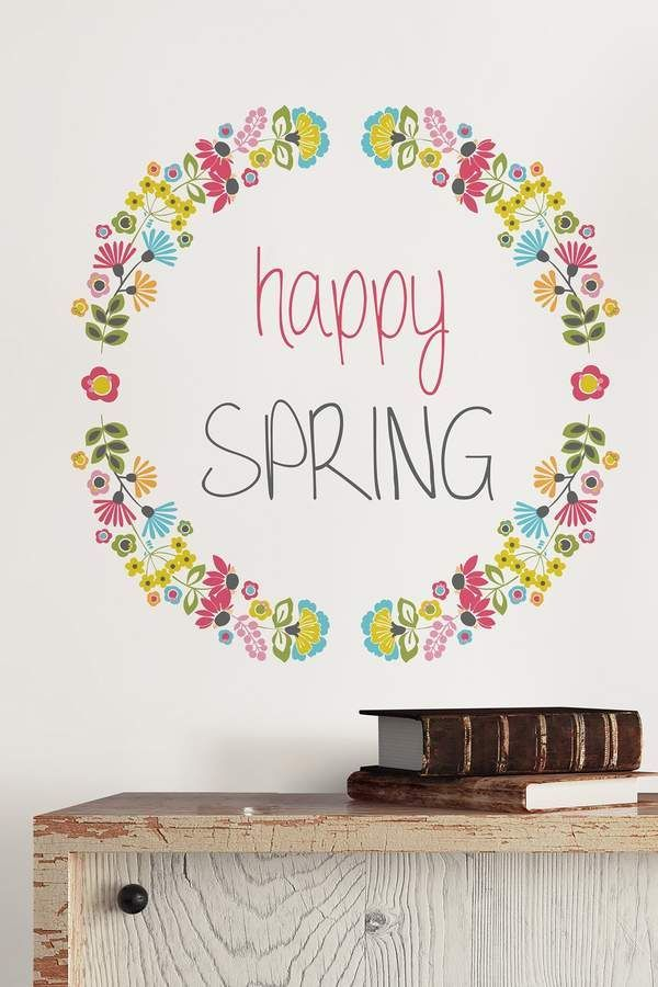 I Love This Happy Spring Wall Decal It S Repositionable So I Don