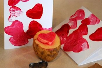 Potato Heart Stamp: For Kids, Potatoes, Valentines Day, Kids Crafts, Valentine S