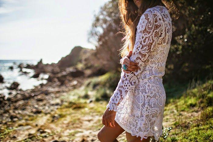 Amilita the label + Lex Weinstein | Evie Dress | white lace | Gypsea Love | bohemian | Byron Bay | nature | beach | ocean | festival style | model | tan | hair | natural
