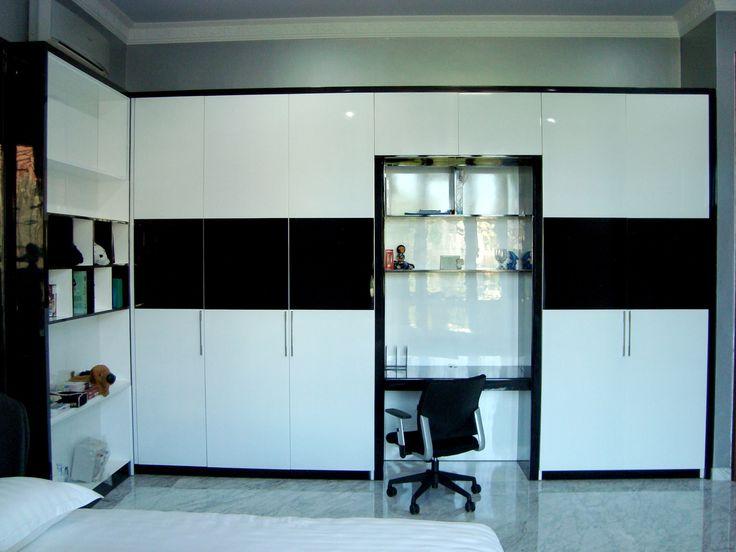 Black And White Wardrobe Design By Simple Luxury Interior Surabaya Indonesia