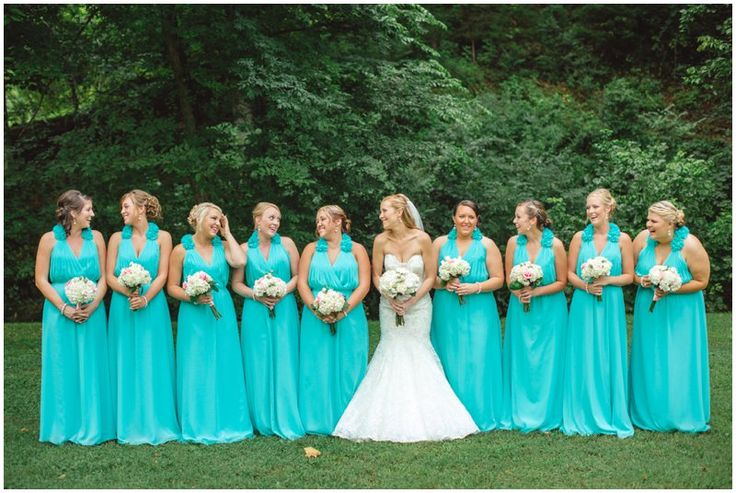 10 images about teal weddings on pinterest mismatched for Turquoise wedding dresses for bridesmaids