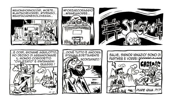 Un rompicoglioni ci insegue... #IoSeguoItalianComics #Satira #Politica #Comics #Humor #Italy #Fastweb