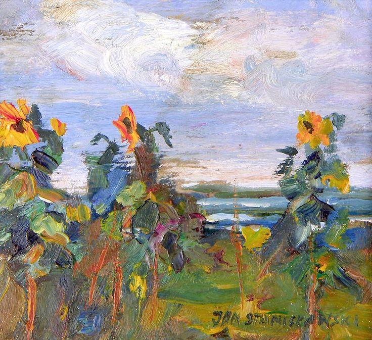 Jan Stanislawski (Polish, 1860-1907) Study of sunflowers