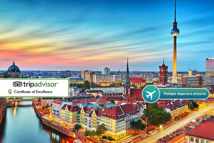 2-3nt 4* Berlin & Flights deal in Holidays Enjoy a two-night break in Berlin with return flights from Stansted, Gatwick, Birmingham or Manchester.  Stay at the 4* Ivbergs Premium or the Holiday Inn Berlin - City East.  Visit cultural spots like the Berlin Wall, Brandenburg Gate and Charlottenburg Palace.  Learn about the fascinating history of this European metropolis.   Valid for travel on...