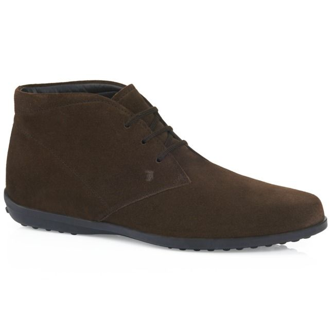 Soft suede lace-up ankle boots featuring a tapered and smooth design,  fabric shoe