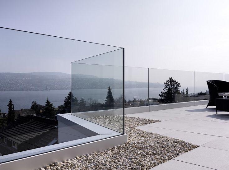 barandilla empotrada vidrio
