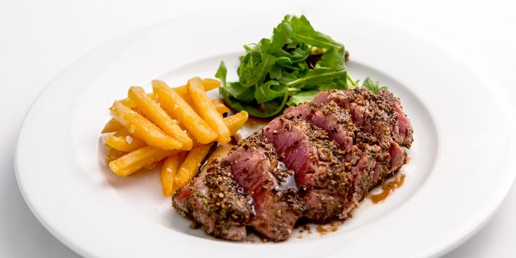 Bryan Webb's steak au poivre recipe is a quick and tasty way to cook steak for dinner. Black and white peppercorns make this steak recipe exceptional.