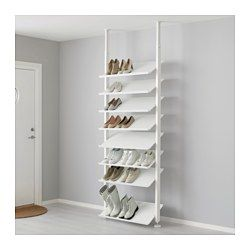 "IKEA - ELVARLI, Shoe shelf, 31 1/2x14 1/8 "", , Here there's room for everything, from dance shoes to boots. With the angled shoe shelves you'll quickly find your favorites and if you need more space you can quickly move the shelves or buy more.The shoe shelf gives you a good overview of your shoes in a wardrobe.Solid bottom prevents any dirt from falling outside the shelf.Durable and easy to clean."