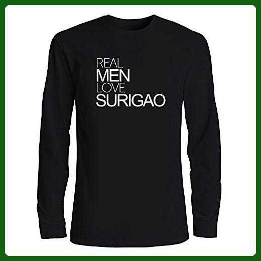 Idakoos - Real men love Surigao - Cities - Long Sleeve T-Shirt - Cities countries flags shirts (*Amazon Partner-Link)