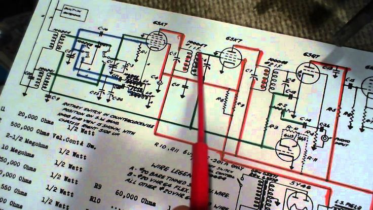 I Review And Explain The Schematic Circuit Diagram For The Marconi 201a Vacuum Tube Radio  You