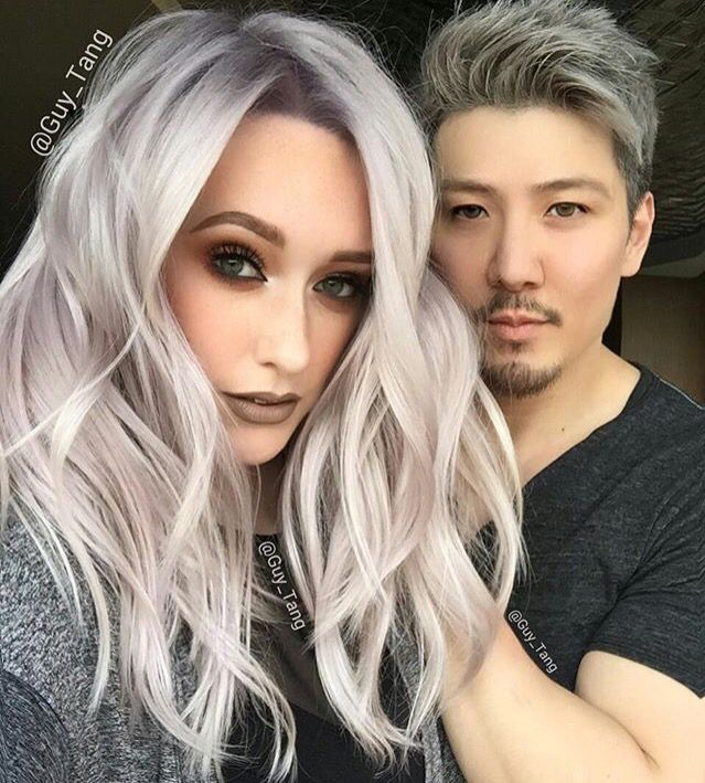 Amazing platinum silver blonde hair by Guy Tang go check him out on YouTube