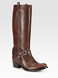 Ralph Lauren Collection - Isareen Leather Buckle Riding Boots