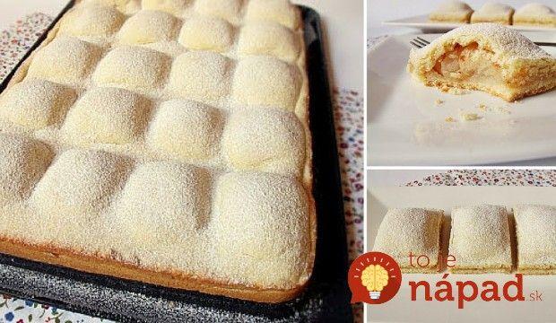 Koláčik ľahučký ako perinka. Apod ňou sa ukrýva štedrá porica sladkých jabĺčok aškorice. Doprajte si vynikajúci dezert kpopoludňajšej kávičke, ktorý pripravíte jedna radosť! :-)  Potrebujeme:  Cesto:    500 g hladkej múky    200 g krupicového cukru    2 vajcia    250 g zmäknutého masla    ¼ lyžičky