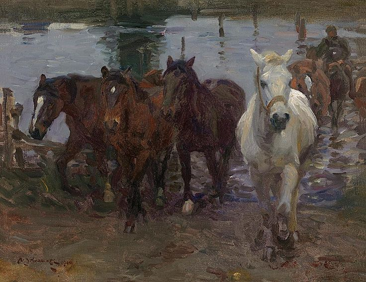 Sir Alfred Munnings - The Ford