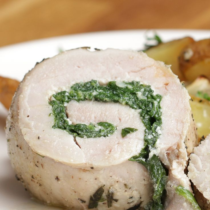 Spinach And Cheese Pork Roll Recipe by Tasty