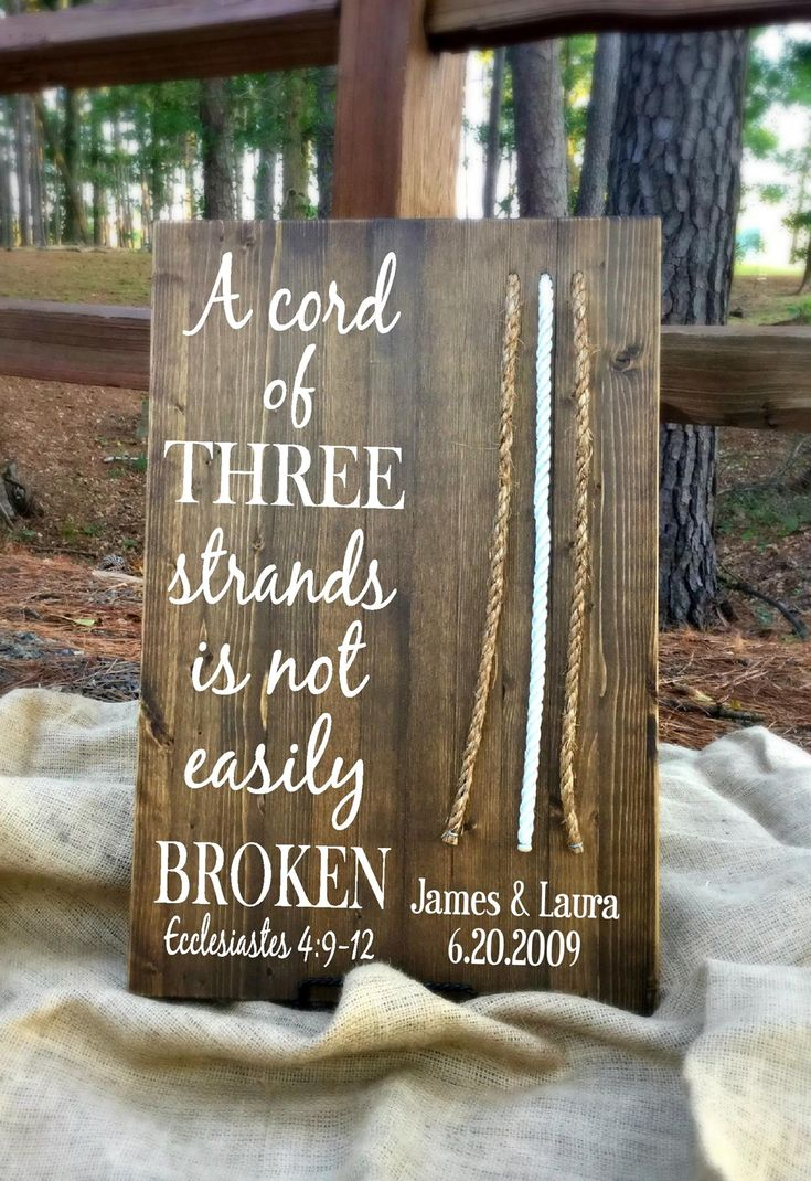 This board would be the perfect addition to your wedding! The Cord of Three Strands Board is a modern alternative for the unity candle and is something you can display for years to come. We have a selection of sizes and finishes - check them all out at the link below! #wedding #cordboard #jandldesigns https://www.etsy.com/shop/JLCustomDesigns1?ref=l2-shopheader-name