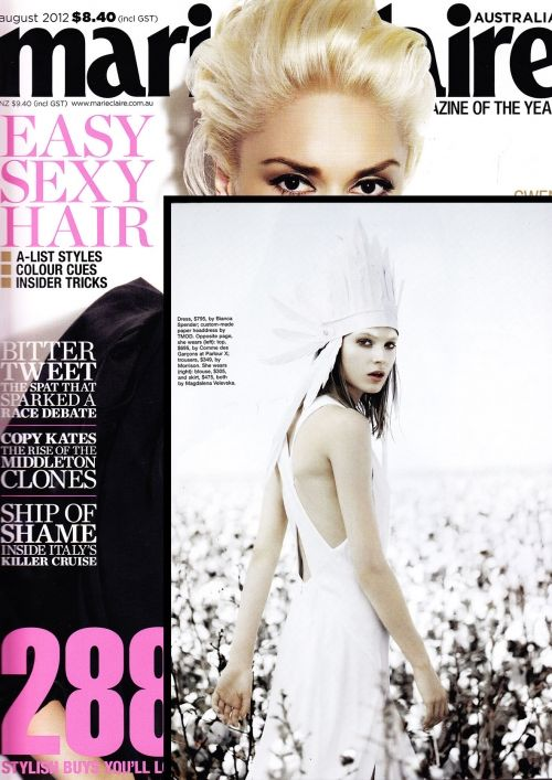Hand Cut paper headdress for   Marie Claire Magazine