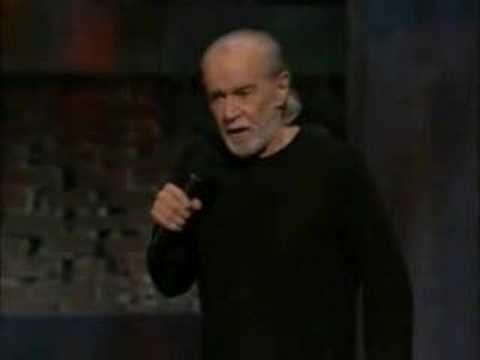 George Carlin on white people If  you don;t want to hear the F bomb then don't watch