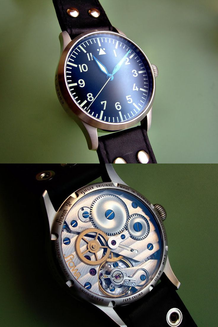 Stowa Flieger Original – They only made a few hundred of these over two runs. 41mm w/ modified Unitas 6947 manual mvmt.