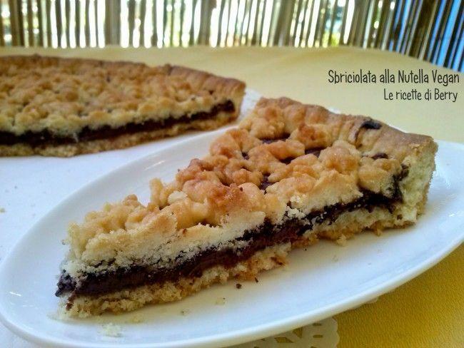 Sbriciolata+alla+Nutella+Vegan+-Senza+Burro+e+Senza+Uova+