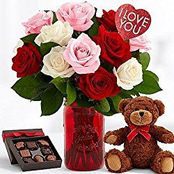 Red and Pretty Valentine - Valentine days flowers Ideas & Bouqets - The Shopstation Same Day Valentine Day Flower Delivery - Send Valentine Gifts 2017