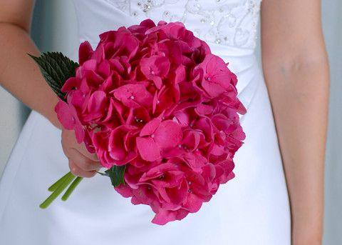 Savvyish - Simple, Stylish, Wedding Flowers. - Hot Pink Hydrangea - Bouquet