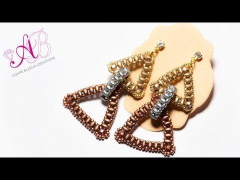 Tutorial: flower bracelet [easy] SuperDuo beads / Цветочный браслет из супердуо бисера ЛЕГКО!