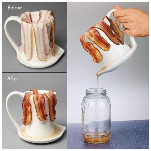 Ceramic microwave bacon cooker | 17 Genius Breakfast Inventions That Will Change Your Life